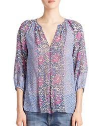 Joie Gloria Silk Floral Print Blouse - Lyst