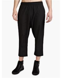 Silent - Damir Doma Men'S Black Cropped 'Pheda' Trousers - Lyst