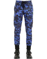 Markus Lupfer Camo Printed Cotton Jogging Pants - Lyst