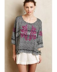 Maeve | Embroidered Dolman Pullover | Lyst