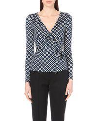 Diane von Furstenberg Behati Silk Wrap Top - Lyst