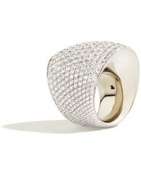Vhernier - Editorialist Exclusive: Tonneau Ring In White Gold And White Diamonds - Lyst