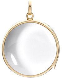 Loquet London - Large Round Locket & Gold Chain - Lyst
