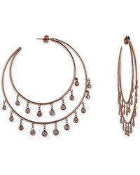 Jacquie Aiche - Diamond Double Shaker Hoop Earrings In Rose Gold - Lyst