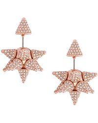 Atelier Swarovski - Kalix Double Stud Earrings - Lyst