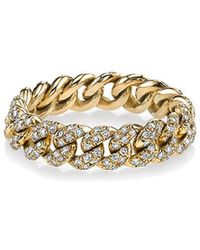 SHAY - Yellow Gold Essential Link Ring - Lyst