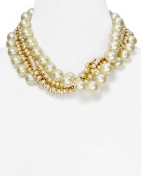 Kenneth Jay Lane Triple Row Mixed Fauxpearl Necklace 18 - Lyst