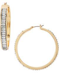 Fragments Crystal Baguette Hoop Earrings - Lyst