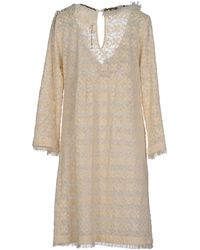 Scee By Twin-set Short Dress - Natural