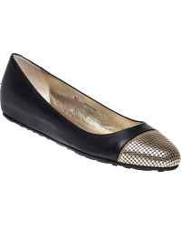 Jimmy Choo Waine Leather Ballet Flats black - Lyst