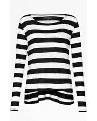 French Connection Horizon Stripe Long-Sleeved Top - Lyst