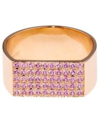 DINA KAMAL DK01 - Sapphire & Yellow-Gold Id Ring - Lyst