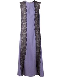 Wes Gordon Wool And Silk Lace Gown - Lyst