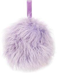 Charlotte Simone Bon Bon Lilac Shearling Bag - Purple