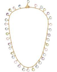 Marie-hélène De Taillac - 22-karat Gold Multi-stone Necklace - Lyst