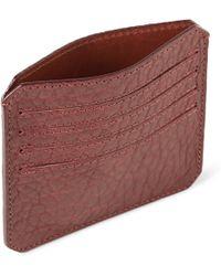 Parabellum - Fullgrain Bison Leather Card Holder - Lyst
