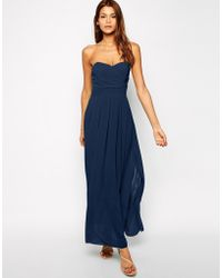 Tfnc Maxi Dress with Pleated Bust - Lyst