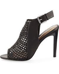 Cynthia Vincent Francine Woven Leather Slingback Sandal - Natural