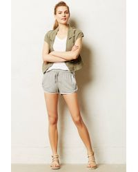 Anthropologie Heathered Track Shorts - Lyst