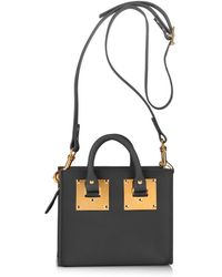 Sophie Hulme Structured Buckle Leather Cross-body Bag - Lyst