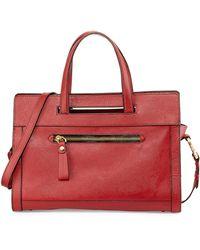 orYANY Sabrina Saffiano Satchel Bag red - Lyst