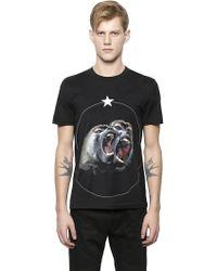 Givenchy Monkey Print T-shirt - Black