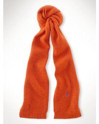 Ralph Lauren Shetland Wool Scarf - Lyst