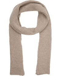 Barneys New York Chunky Rib-Knit Scarf - Lyst