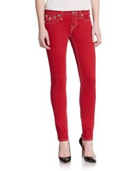 True Religion Flap Pocket Skinny Jeans - Lyst