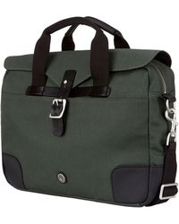 Ben Sherman - Leather-trimmed Twill Canvas Commuter Bag - Lyst