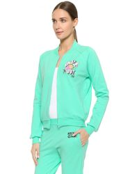 Moschino Knock Out Zip Up - Blue