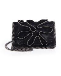 Stella McCartney Zipper-Accented Faux-Leather Chain Clutch - Lyst