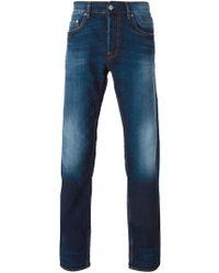 Stone Island Slim Washed Jeans - Blue