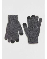 TOPMAN - Charcoal Touchscreen Gloves - Lyst