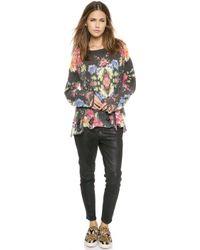 Wildfox Janes Sofa Sweater  Clean Black - Lyst