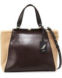 Diane Von Furstenberg 440 Runaway Leather Tote Bag - Lyst