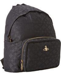 Vivienne Westwood Black Orbogram Backpack - Lyst
