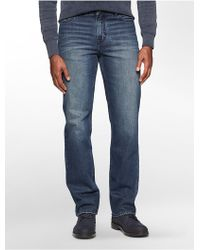 Calvin Klein | Jeans Straight Leg Tarnished Wash Jeans | Lyst