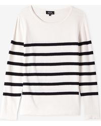 A.P.C. | Pull Mariniere Andy | Lyst