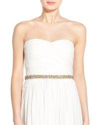 Nestina Accessories - 'nadege' Crystal Bridal Sash - Lyst
