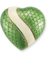 Tiffany & Co. | Pre-owned Enamel Heart Pin in 18k Yellow Gold | Lyst