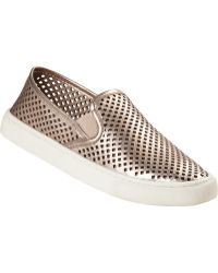 Tory Burch Metallic Perforated Sneakers - Lyst