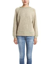 IRO Neelie Sweater In Beige/Green - Lyst