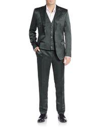 Dolce & Gabbana Regular-fit Three-piece Silk Tuxedo - Green