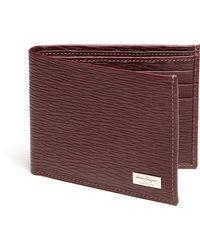 Ferragamo Revival Textured Leather Billfold Wallet red - Lyst