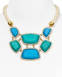 Carolee Barcelona Baubles Statement Necklace 17 - Blue