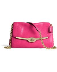 Coach Madison Chain Crossbody in Leather - Lyst
