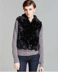 Surell - Short Rabbit Fur Vest - Lyst