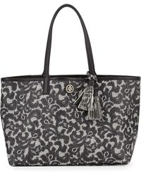 Tory Burch Kerrington Lace-print Shopper Tote Bag Ferrara Lace - Lyst
