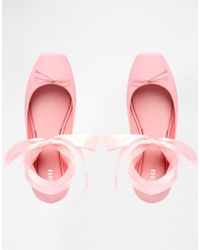 Melissa Ballet Baby Pink Flat Shoes - Lyst